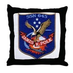 USS JAMES K. POLK Throw Pillow