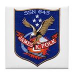 USS JAMES K. POLK Tile Coaster
