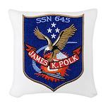 USS JAMES K. POLK Woven Throw Pillow