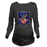 USS JAMES K. POLK Long Sleeve Maternity T-Shirt