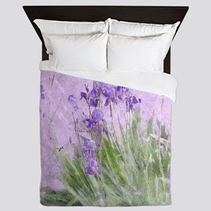 Purple Irises Queen Duvet