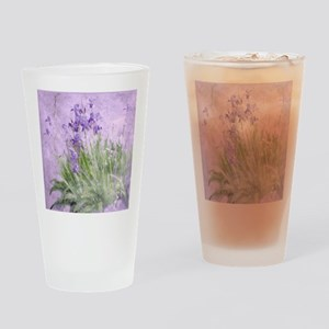 Purple Irises Drinking Glass
