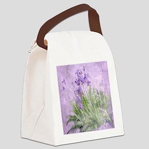 Purple Irises Canvas Lunch Bag