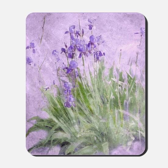 Purple Irises Mousepad