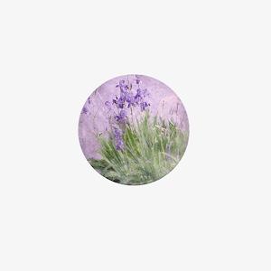 Purple Irises Mini Button