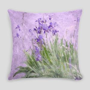 Purple Irises Everyday Pillow