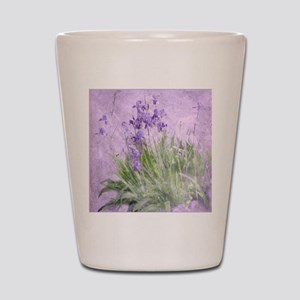 Purple Irises Shot Glass