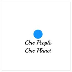 One People One Planet Canvas Art