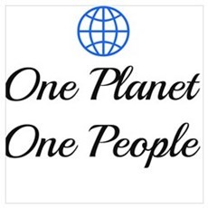 One Planet One People Canvas Art