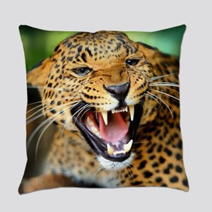 Growling Leopard Everyday Pillow