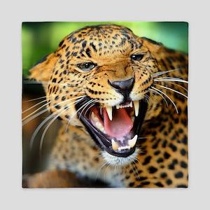 Growling Leopard Queen Duvet