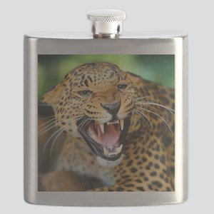 Growling Leopard Flask