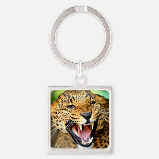 Growling Leopard Keychains