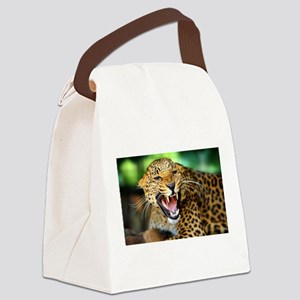 Growling Leopard Canvas Lunch Bag