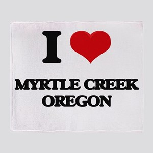 I love Myrtle Creek Oregon Throw Blanket