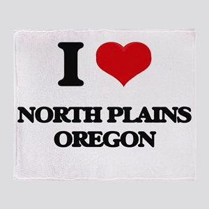 I love North Plains Oregon Throw Blanket