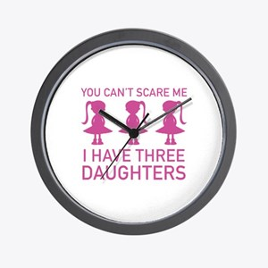 I Have Three Daughters Wall Clock