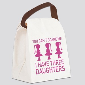 I Have Three Daughters Canvas Lunch Bag