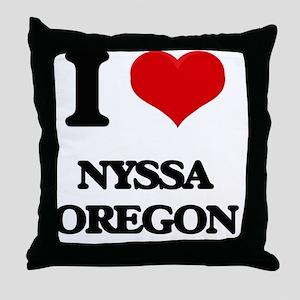 I love Nyssa Oregon Throw Pillow