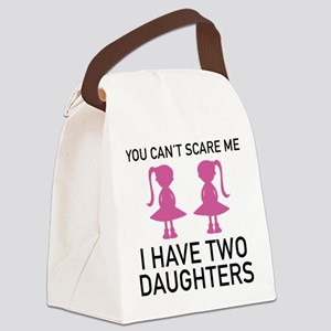 I Have Two Daughters Canvas Lunch Bag