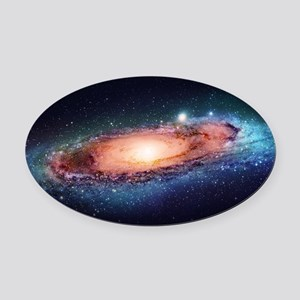 Milky Way Oval Car Magnet
