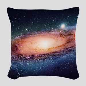 Milky Way Woven Throw Pillow