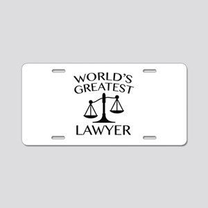 World's Greatest Lawyer Aluminum License Plate