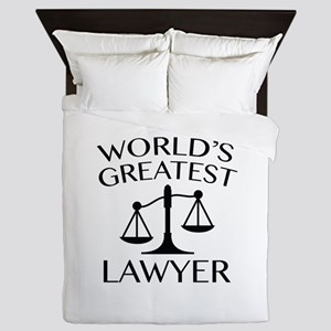 World's Greatest Lawyer Queen Duvet