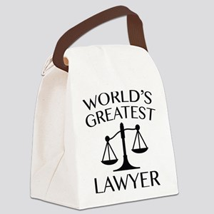World's Greatest Lawyer Canvas Lunch Bag