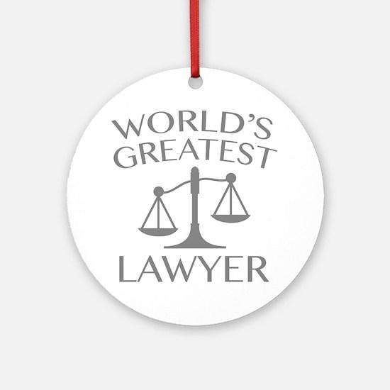 World's Greatest Lawyer Ornament (Round)