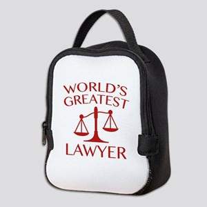 World's Greatest Lawyer Neoprene Lunch Bag