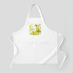 Believe - yellow roses Apron