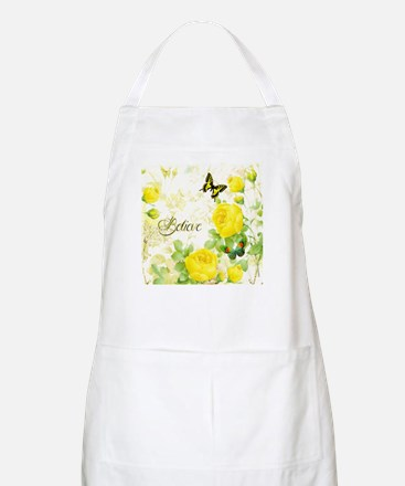 Believe - yellow roses Apron
