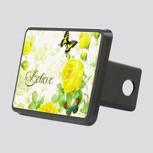 Believe - yellow roses Rectangular Hitch Cover