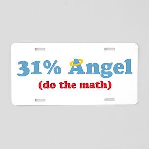 31% Angel Aluminum License Plate