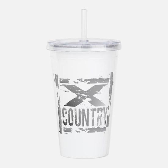 Cross Country Grunge Acrylic Double-wall Tumbler