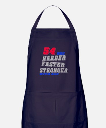 54 More Harder Faster Stronger With A Apron (dark)