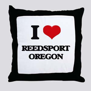 I love Reedsport Oregon Throw Pillow
