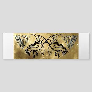 Huginn & Muninn Bumper Sticker