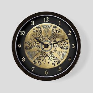 Huginn & Muninn Wall Clock