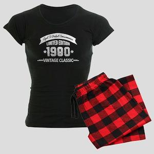 Birthday Born 1980 Aged To P Women's Dark Pajamas