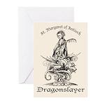 St. Margaret Dragonslayer Light Greeting Cards (Pk