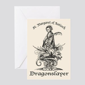 St. Margaret Dragonslayer Light Greeting Card
