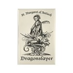 St. Margaret Dragonslayer Light Rectangle Magnet (