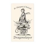 St. Margaret Dragonslayer Light Sticker (Rectangul