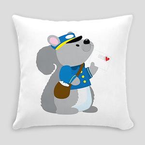 Squirrel Postman Everyday Pillow