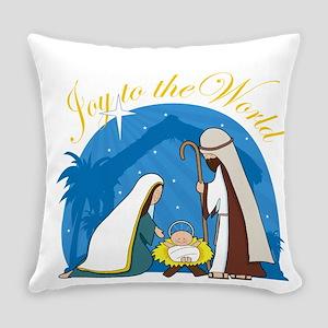 nativity scene cp Everyday Pillow