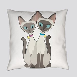 Siamese Cats Everyday Pillow