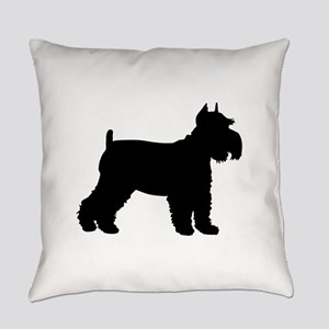 Schnauzer Silhouette Everyday Pillow