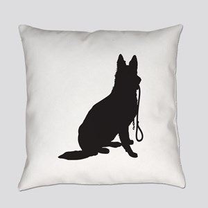 Shepherd with Leash Everyday Pillow